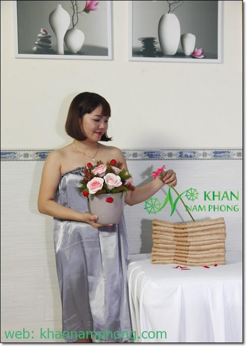 Mẫu váy quây Spa lụa Nam Phong