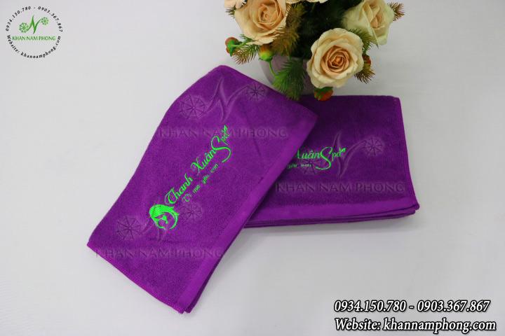 Mẫu khăn lau tay màu tím của Nam Phong