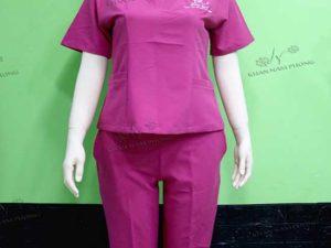 Đồng phũ spa của Sika Spa màu hồng