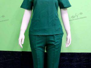 Đồng phục Spa của Thanh Mười Spa màu xanh lá