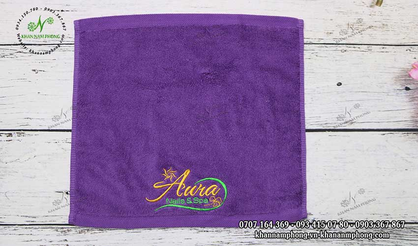 Mẫu khăn lau tay Aura Nails & Spa (nhiều màu)