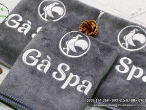 Khăn quấn tóc của Gà Spa chất liệu Microfiber màu xám