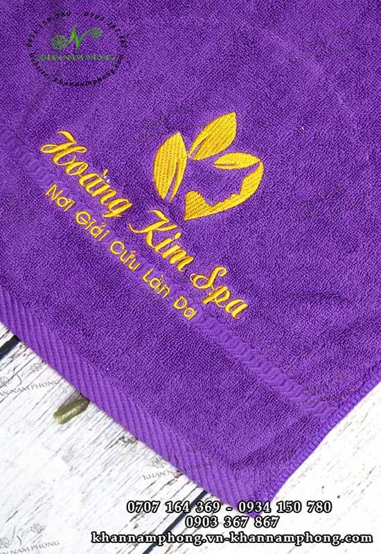 Mẫu khăn body Hoàng Kim Spa (Tím Cotton)