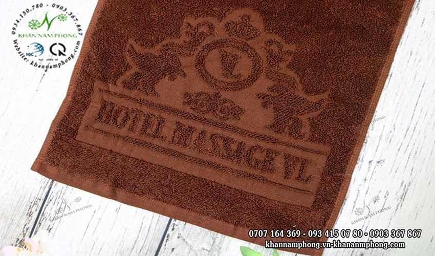 Khăn Hotel Massage VL nâu & trắng, chất liệu Cotton