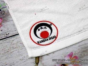Khăn sợi tre Kansha Dojo mài trắng