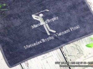 Khăn Golf Mercedes Trophy màu xám microfiber