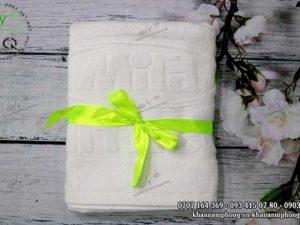 Khăn Quà Tặng của MiTa MITACO màu trắng, chất liệu cotton