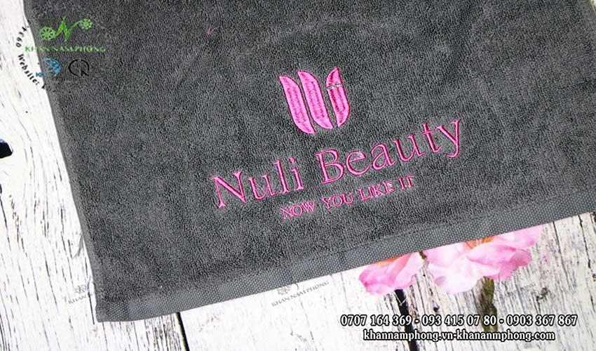 Mẫu khăn lau tay Nuli Beauty (Xám - Cotton)