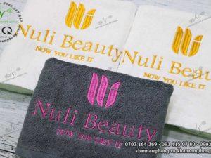 Bọ khă Spa của Nuli Beauty màu Xám & Trắng, chất liêu cotton