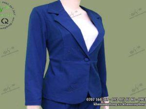 Đồng phục vest Spa màu xanh dương