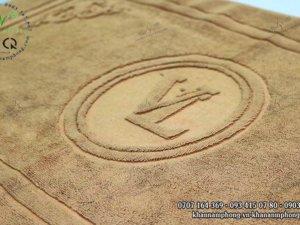 Thảm chùi chân Hotel Massage VL màu nâu nhạt chất liệu Cotton