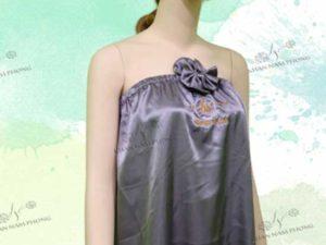 Váy quây lụa mày xám của Viện Điều Trị LENA