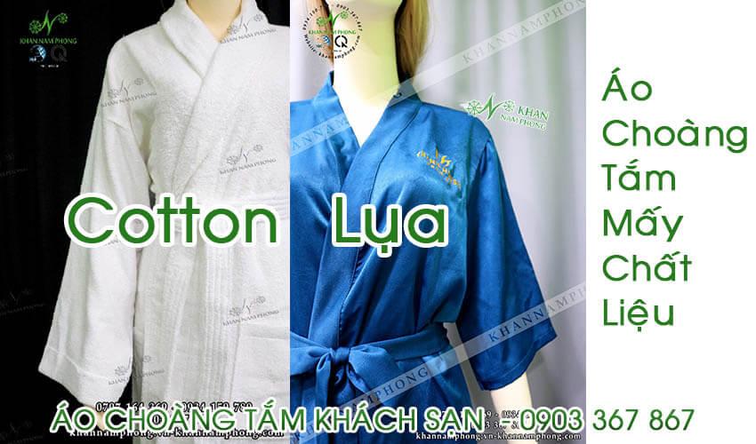 Áo choàng tắm khách sạn có mấy chất liệu (ảnh sản phẩm thật Nam Phong cung cấp cho khách hàng)