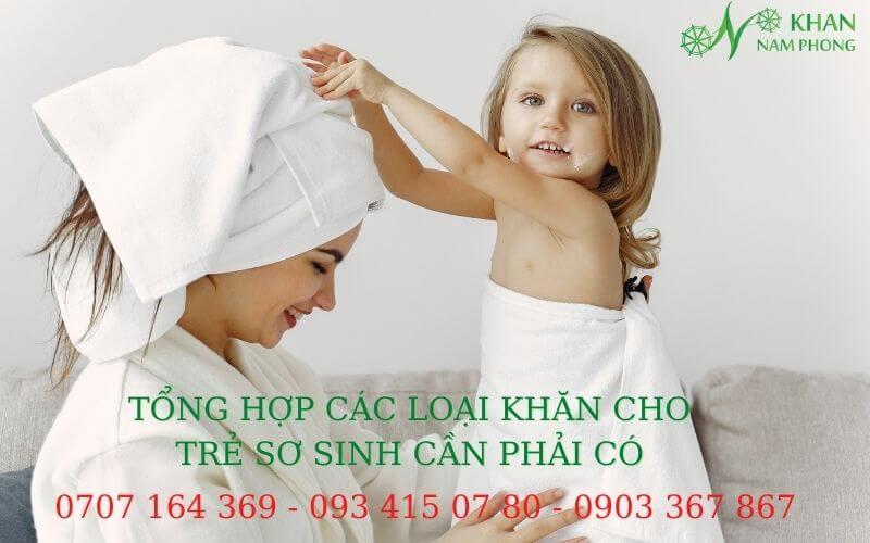 Tổng hợp các mẫu khăn cho trẻ sơ sinh